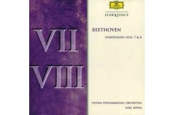 BEETHOVEN / BOHM / VIENNA PHIL ORCH - BEETHOVEN: SYM NOS 7 & 8 NEW CD