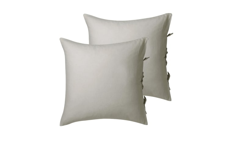 Pair of Versai Linen European Pillowcases by Private Collection