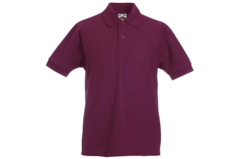 Fruit Of The Loom Childrens/Kids Unisex 65/35 Pique Polo Shirt (Burgundy) (5-6)