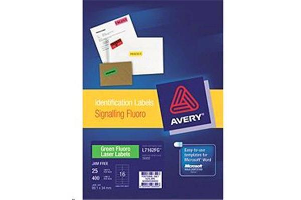 AVERY LABEL GREEN L7162-25FG 99.1X34 25 PACK