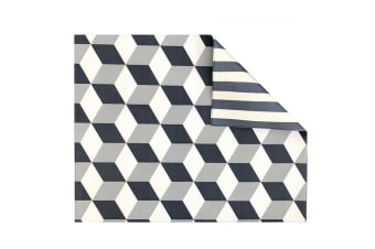 Play with Pieces - Playmat -  Grey Geo/Stripe