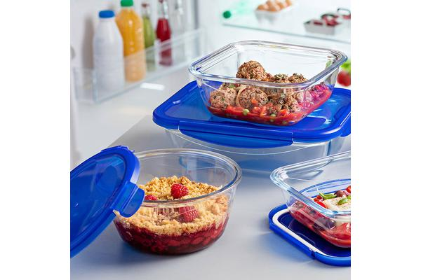 Pyrex Cook n Go 1.6L Round Dish w/ Lid