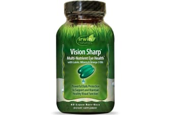 Irwin Naturals Vision Sharp Multi-Nutrient Eye Health - 42 Liquid Soft-Gels