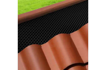 20x Gutter Guard Aluminium Deluxe Leaf Mesh- Keep Leafs Out 100 x 20cm Black DIY