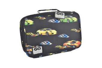 Go Green Original Lunch Box Set Fast Flames Car