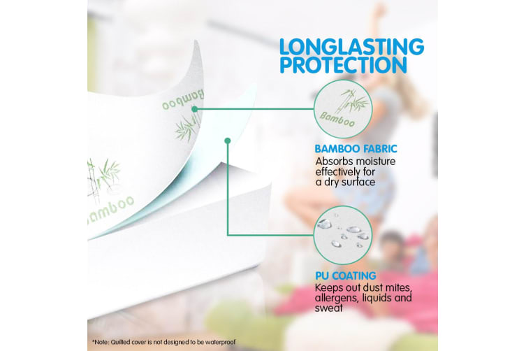 Laura Hill Bamboo Mattress Protector- Double