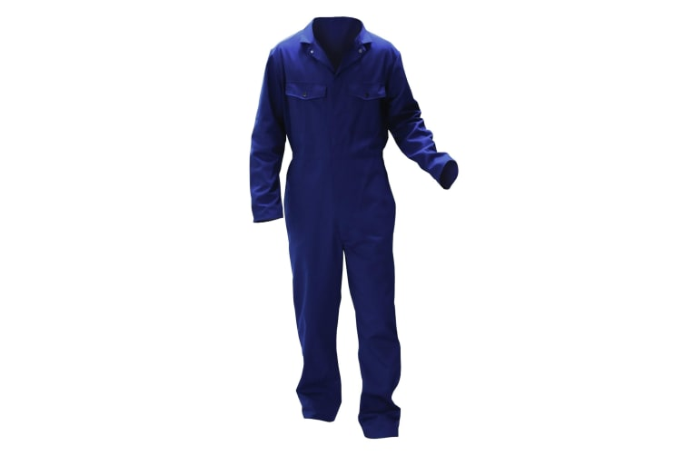Warrior Mens Stud Front Coverall (Navy) (3XL/L)