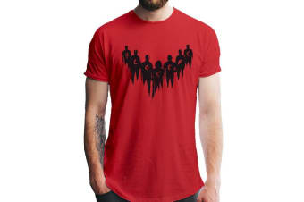 IT Chapter 2 Adults Unisex The Losers Design T-Shirt (Red)