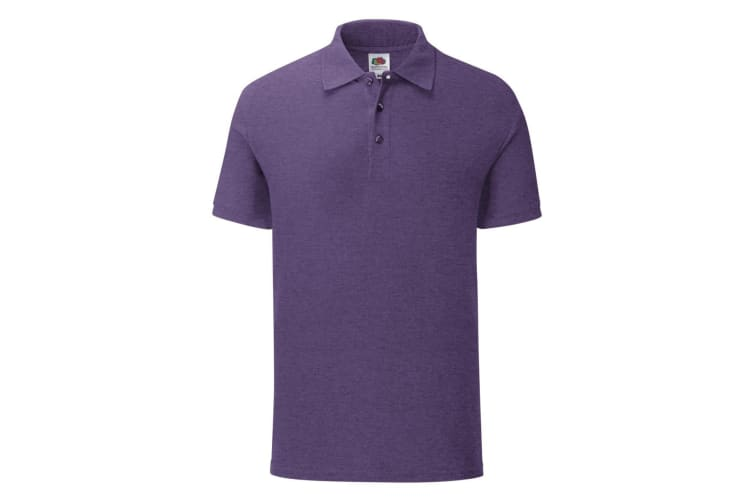 Fruit Of The Loom Mens Iconic Polo Shirt (Heather Purple) (3XL)