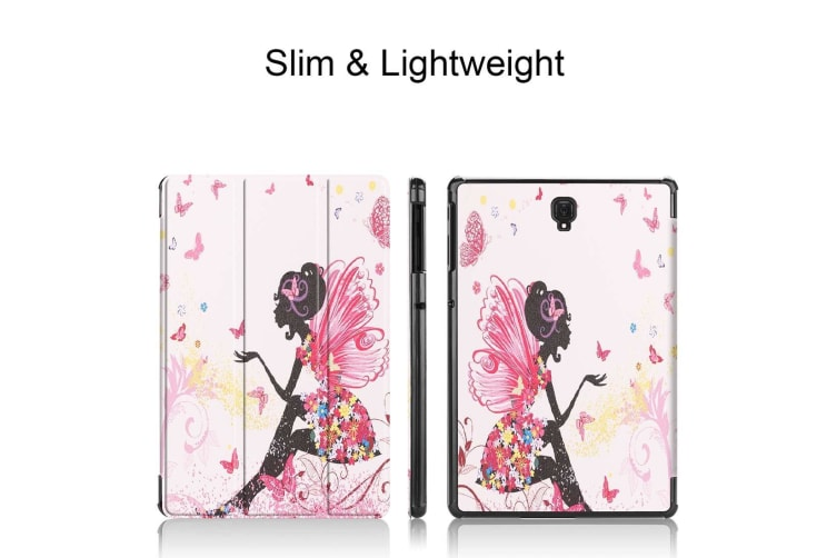 For Samsung Galaxy Tab S4 10.5 Case Butterfly Fairy Print PU Leather Folio Cover