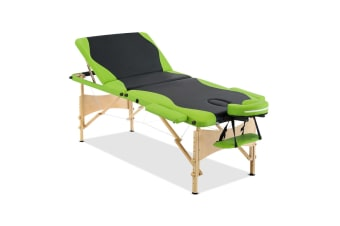 Portable Wooden Massage Table (Green/Black)
