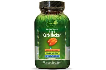 Irwin Naturals, 3-in-1 Carb Blocker, Maximum Strength, 75 Liquid Soft-Gels