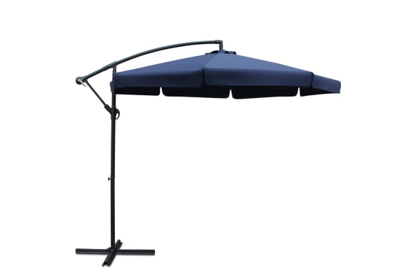 3M Outdoor Umbrella with Petal Detailing (Navy)