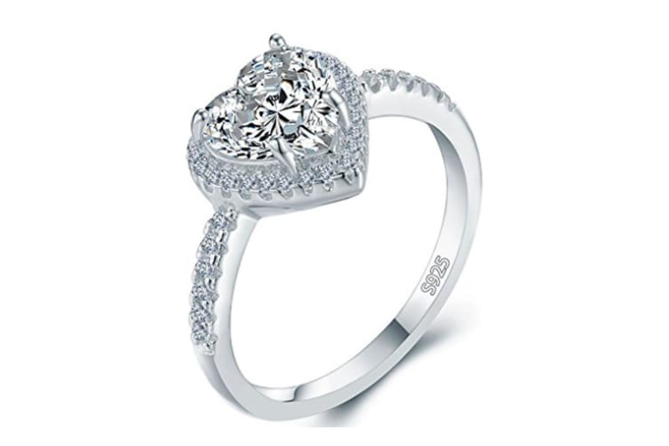 Heart Shape Bridal Wedding Engagement Promise Anniversary Ring 7