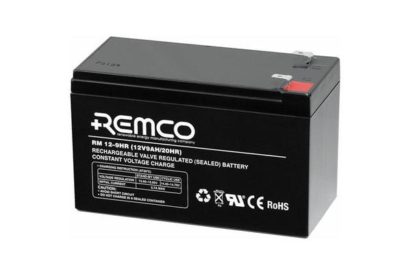 REMCO RM12-9HR AGM SEALED LEAD ACID BATTERY 12V 8.5Ahr T2 terminal type 150x65x95mm LxWxH UPS