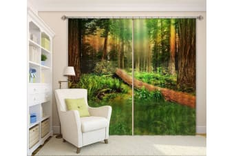 3D Forest Trees 225 Curtains Drapes, 264cmx160cm(WxH) 104''x 63''
