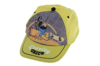 The Simpsons Childrens Boys Official Bart Simpson Baseball Cap (Yellow)
