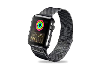 ZUSLAB iWatch Stainless Steel Wristband Band For Apple Watch 42mm 44mm Series 5 4 3 2 1 - Space Gray