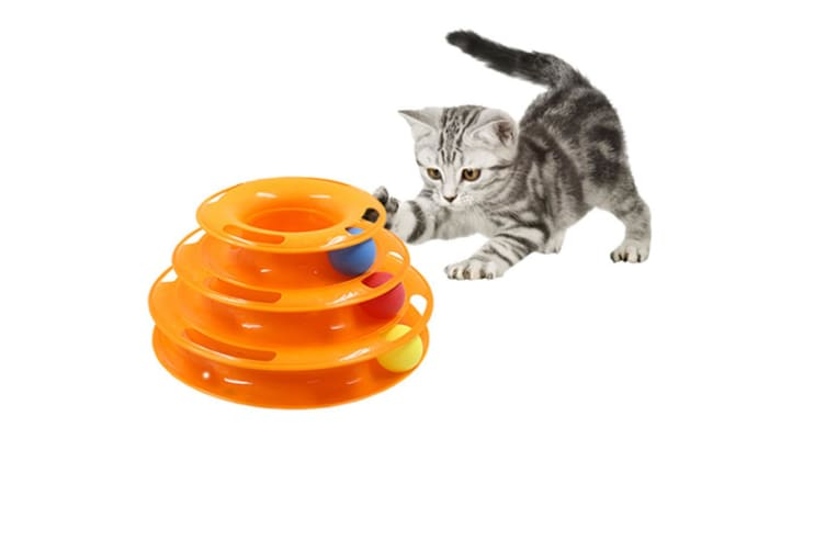 Pet interactive toys Three Levels Tower Tracks Cats Toy  Y000001