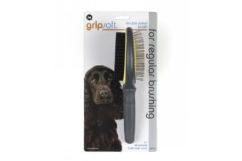 Double Sided Brush for Dogs - JW Gripsoft Pet Grooming Tool