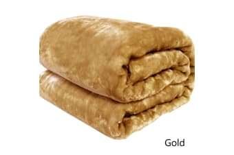 Soft Mink Throw Rug Gold by Artex