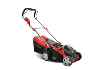 Giantz Cordless Electric Lawn Mower - Red and Black
