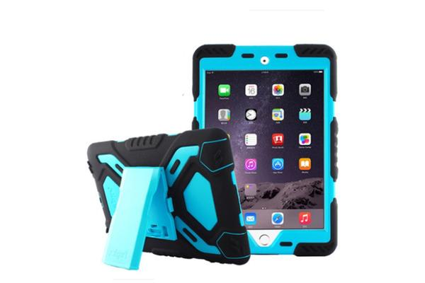 Generic iPad 2017 Model Shock proof Tough Case Protector -Blue