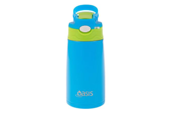 Oasis Kids Insulated Drink Bottle 350ml-blue