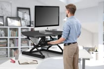 Kogan Corner Height Adjustable Standing Desk Riser (Black)