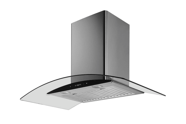 Residentia 90cm Curved Glass Canopy Rangehood with Touch Control (RH92GB)