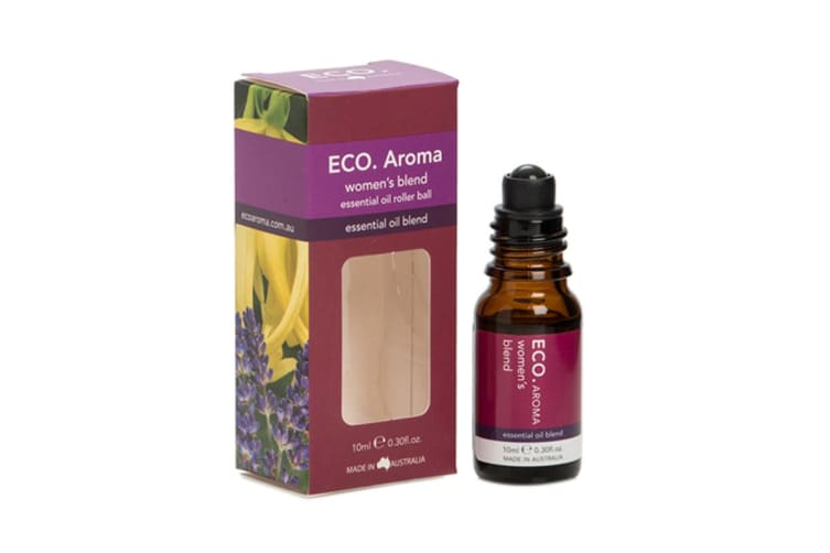 ECO. Womens Essential Oil Roller Ball with Cedarwood, Lavender, Geranium & Ylang Ylang (10mL)