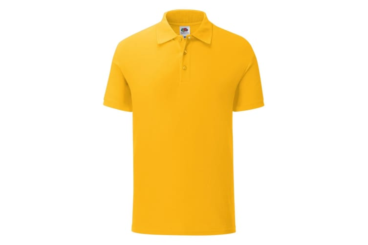 Fruit Of The Loom Mens Iconic Polo Shirt (Sunflower Yellow) (M)