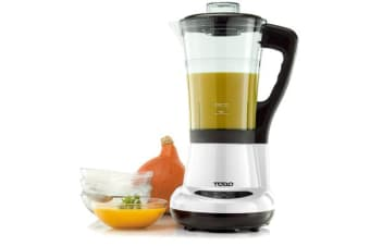 Soup Maker Heated Blender Food Processor 1.7L Jug Egg Cooker White