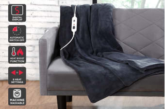 Ovela Luxury Heated Electric Throw (Grey)