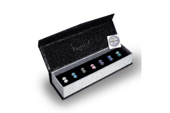 Boxed 7 Pairs Stud Earrings Set Embellished with Swarovski crystals
