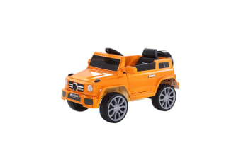 BoPeep Ride On Car Remote Control Cars Kids Toy Electric Songs Motor Orange