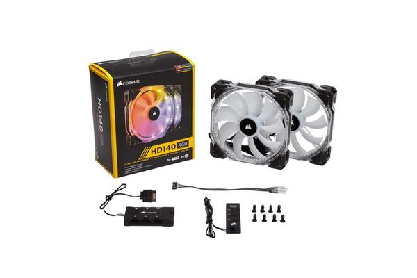 Corsair HD140 RGB LED Dual Fans with Controller