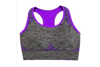 Women's Seamless Sports Bra High Impact Pocket Yoga Bras M