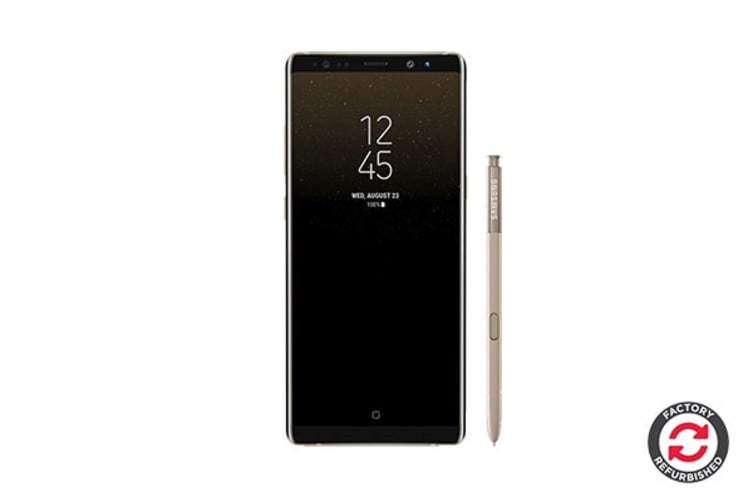 Samsung Galaxy Note8 Refurbished (64GB, Maple Gold) - AB Grade