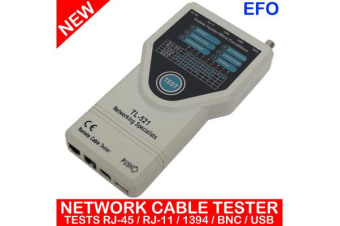 5 In 1 Network Cable Tester Fault Locator Tracker Rj45 Rj11 1394 Bnc Usb Tl-521