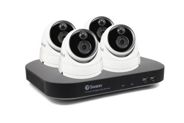 Swann 8 Channel 3MP 2TB HDD with 4 x PRO-3MPMSD Thermal Motion Sensing Dome Cameras (SWDVK-847804D)