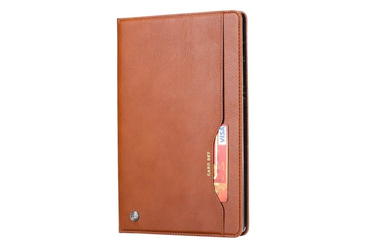 For Samsung Galaxy Tab S6 Case  Wallet PU Leather Flip Cover  Brown