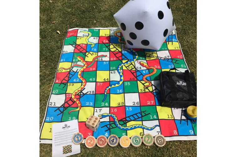 Giant 1.5m Snakes, Dots & Ladders Game - 2 in 1!