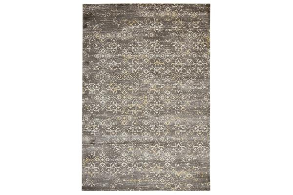 Faded Modern Brown Rug 320x230cm