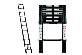 TRA 3.2m Black Portable telescopic ladder with carry bag