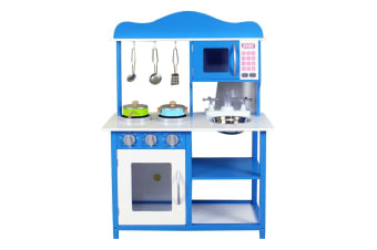 Kids Play Toy Wooden Kitchen Set - Ocean Blue (WK8079)