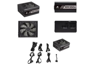 Corsair 550W V2 RMX 80+ Gold Fully Modular 135mm FAN ATX PSU 10 Years Warranty