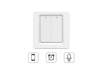 Select Mall European Standard Wifi Physical Remote Control Intelligent Switch Can Be Mobile Phone Voice Timing Button