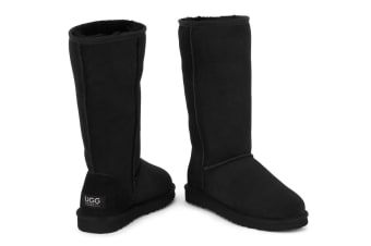 Ugg Outback - 100% Sheepskin Classic Long (Black)