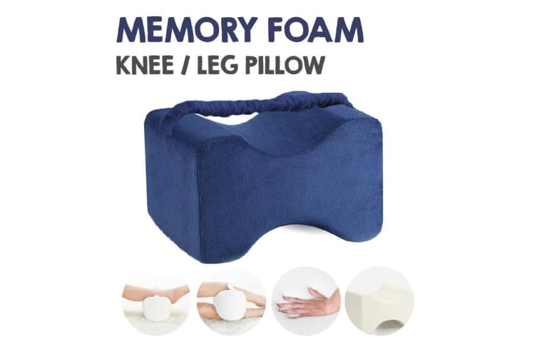 Navy Color Memory Foam Leg Knee Support Pillow Orthopedic Firm Pain Relief